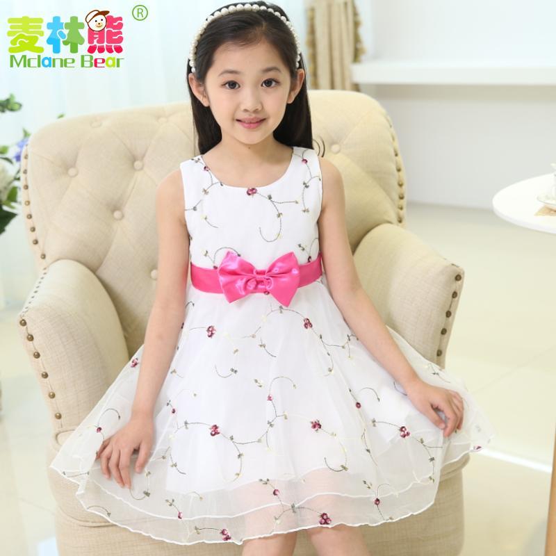 童裝夏裝2016新款小女孩兒童裙子女童連衣裙夏季16大童公主裙紗裙