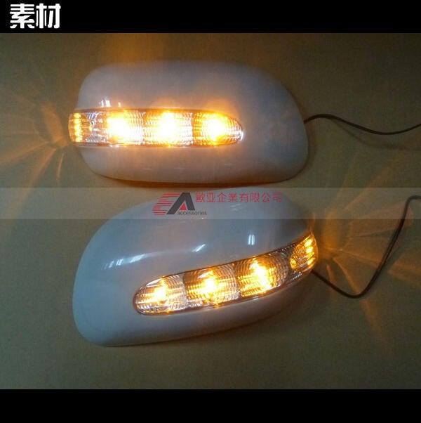 適用於豐田COROLLA ALTIS台灣2000-2006/PREMIO 1996-2001後視鏡LED燈蓋燈殼