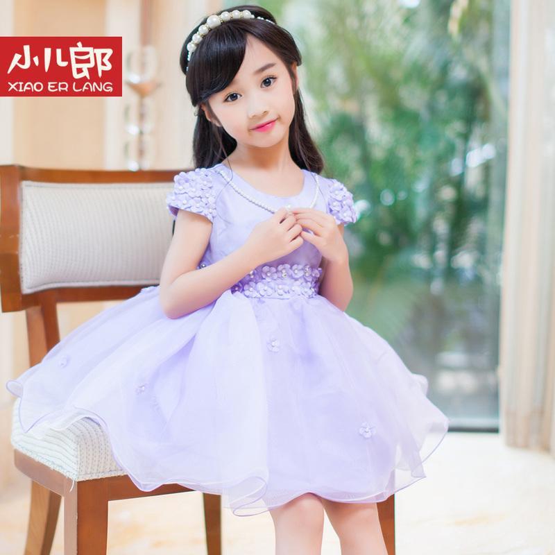 女童夏裝連衣裙兒童短裙5表演7網紗寶寶裙子夏季潮短袖蓬蓬公主裙