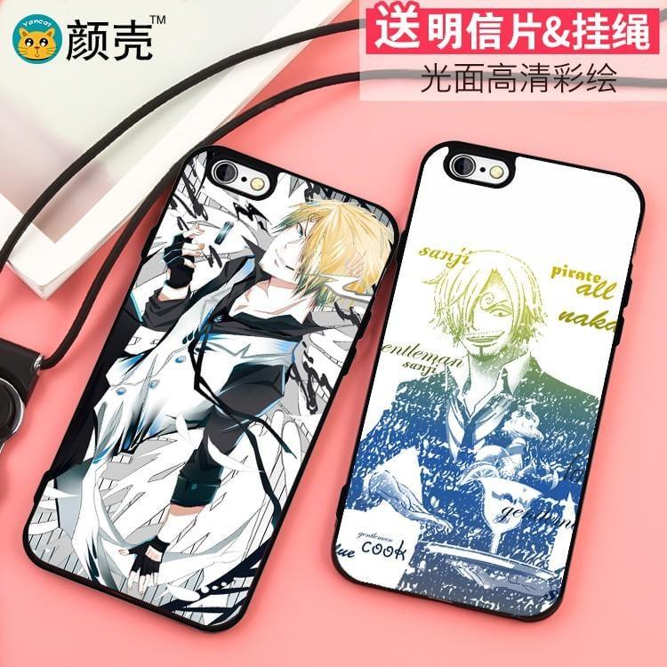 【開心買場】山治/香吉士sanji海賊王iPhoneX手機殼6s蘋果8保護殼7plus/5S軟8p