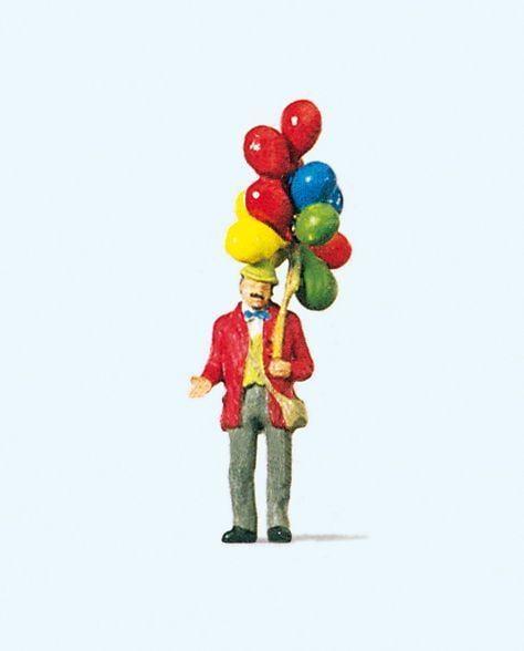 預購中 Preiser 29000 HO規 拿氣球的人
