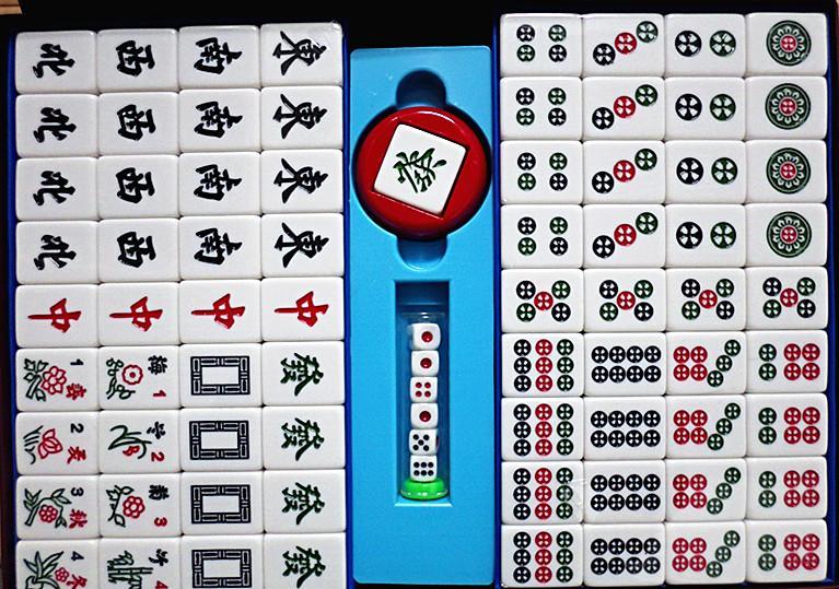榮冠36mm超大廣東竹絲麻將 翠綠色 適益智遊戲、教學…等-【便利網】