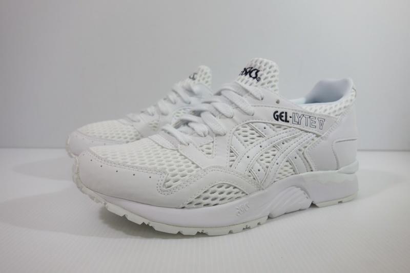 =小綿羊= 零碼 ASICS GEL-LYTE V 全白 H7K2N-0101 亞瑟士 男生 休閒鞋 復古鞋 04m