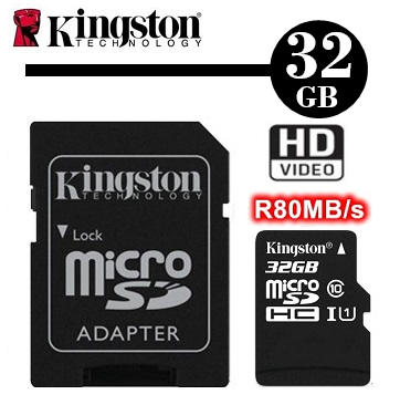 最新款 金士頓 Kingston 32GB Canvas microSD U1 讀80MB/s 現貨