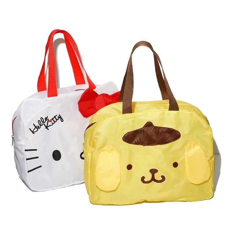 現貨❤️ 天天出貨!日單 kitty美樂蒂布丁狗 卡通可折疊旅行袋行李箱拉桿包手提袋 手提收納袋 購物袋 行李袋 手提袋
