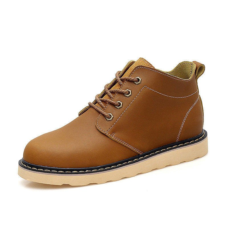 2016新款休閑鞋高幫真皮鞋復古英倫工裝男鞋皮鞋大頭鞋馬丁靴