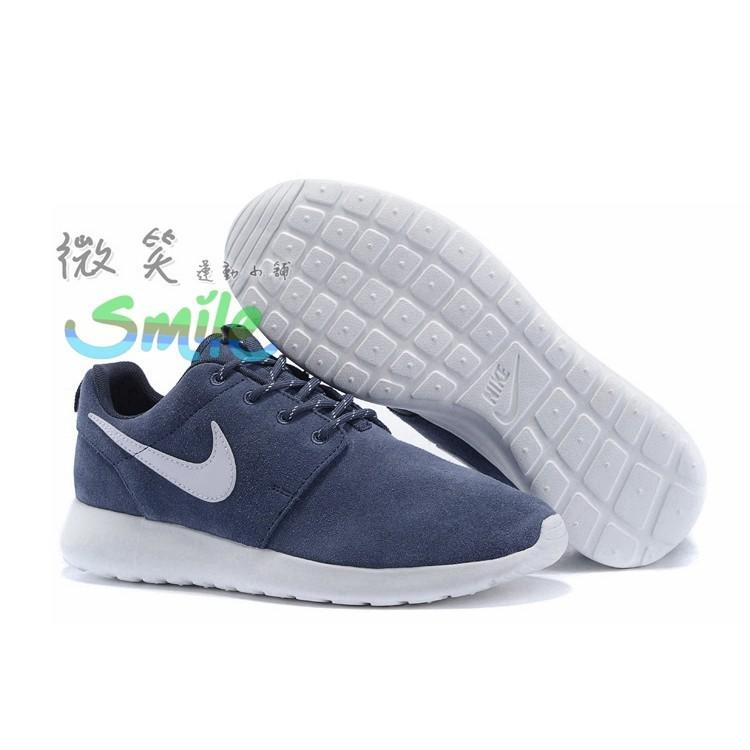 Nike Roshe Run Rosherun 輕量 休閒 運動 慢跑鞋 麂皮 灰白 男鞋