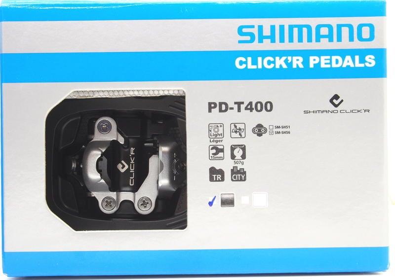 艾祁單車  Shimano Click'R PD-T400旅行車、登山車卡踏踏板 (盒裝含SM-SH56扣片)含稅開發票