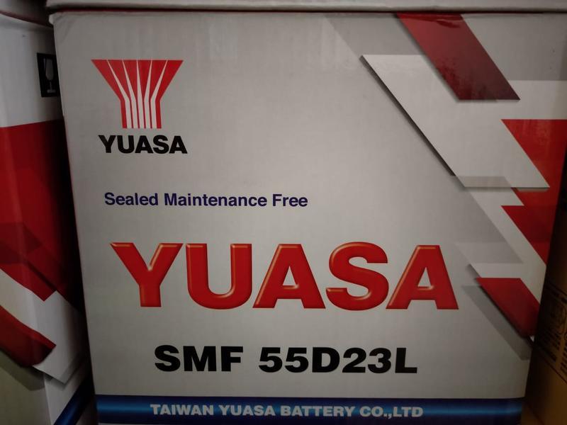 台中太平汽車電池  湯淺YUASA 55D23L 免保養  舊換新