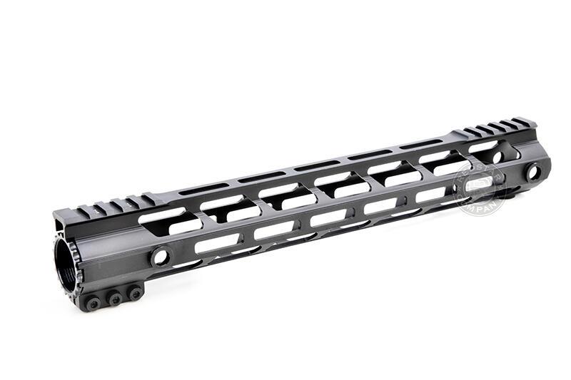 RST 紅星 - CNC M4 AR15 GBB 瓦斯槍用 方塊版M-LOK系統護木 13.5吋 黑色 17532135