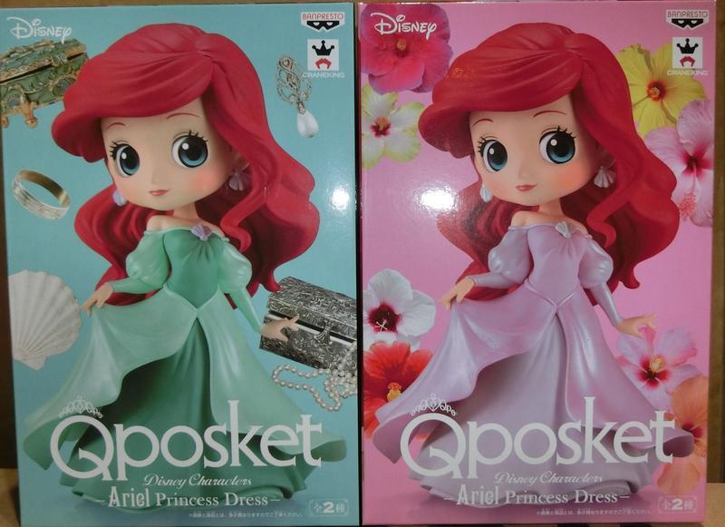 現貨 景品 迪士尼 Q-POSKET 小美人魚 愛麗兒 禮服 A B 款