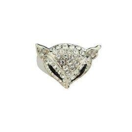 全新指環滿鑽戒指飾品 食指 滿指 鑽戒 首飾水晶狐狸玫瑰金