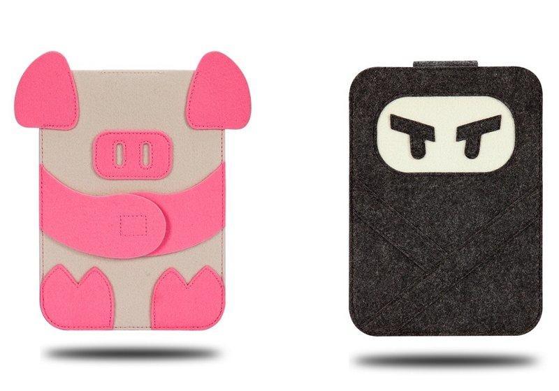 超可愛動物造型保護套、iPad air / 2 / 3/ 4內膽包、收納袋、皮套裝得下