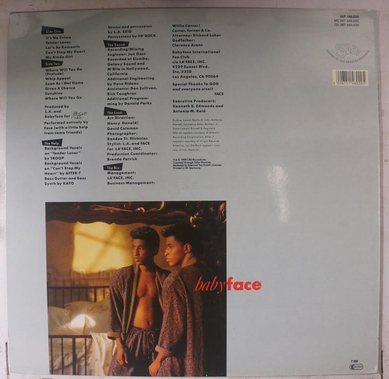 《二手歐版黑膠》Babyface - Tender Lover