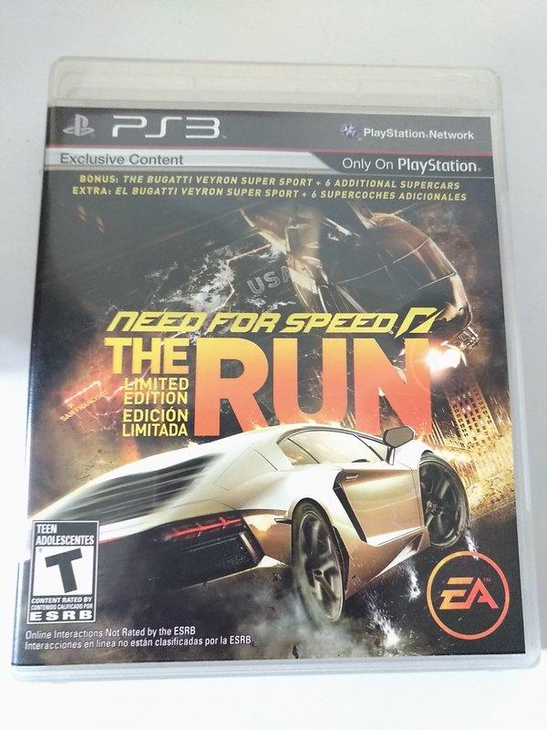 (兩件免運)(二手) PS3 極速快感 亡命天涯 英文版