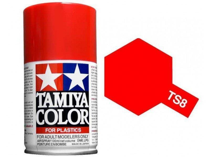 田宮 TAMIYA TS-8 義大利紅色 噴罐 《BA MODEL》