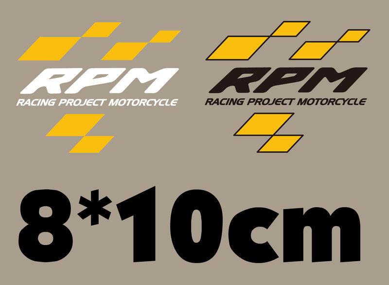 ▀▄▀▄ RPM SHOP ▀▄▀▄RPM Logo貼紙(一組兩張 黑/白)8*10cm