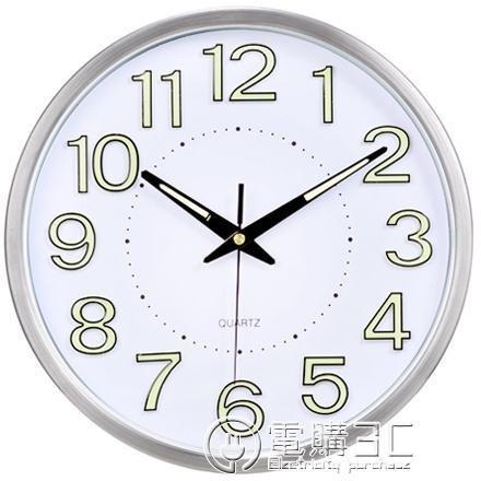 免運 可開發票 掛鐘客廳靜音夜光掛錶創意鐘錶時鐘臥室現代石英鐘牆鐘掛鐘 〖花開物語〗