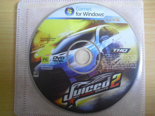 ※隨緣電玩※絕版 極速狂飆 2:HIN 全面解放∼Juiced 2.PC遊戲㊣正版㊣光碟正常/裸片包裝. 一片裝350元