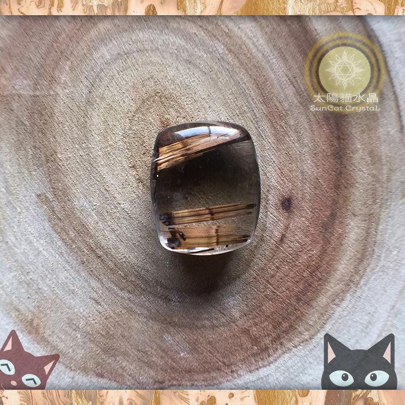 ☼§太陽貓水晶§☼【晶典收藏】摩卡嘎逼 ※ 鈦晶 墜子 Rutilated Quartz