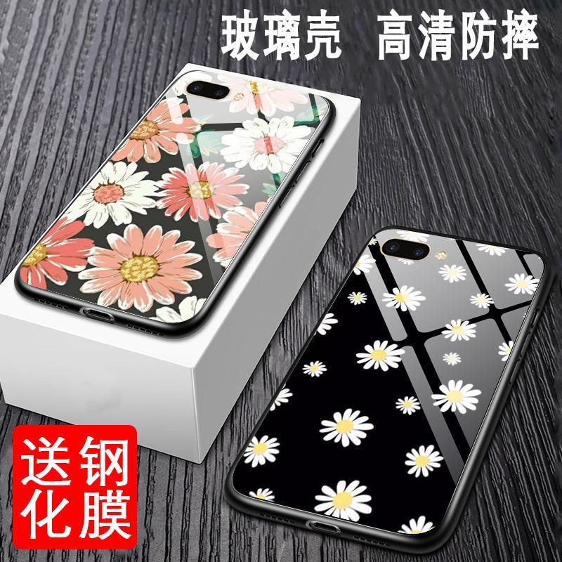 999小舖oppor11泫雅手機殼權志龍同款雛菊OPPOA5降玻璃鏡面新款a3