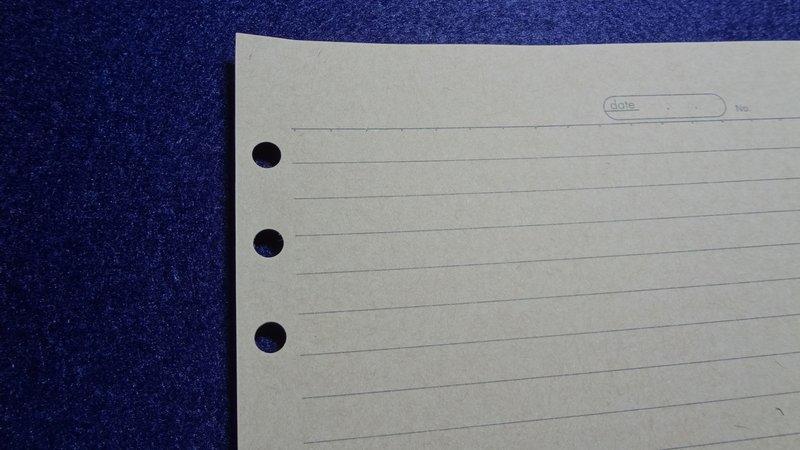 D款鋼筆用 橫線 A5 6孔 活頁 牛皮紙 行距8mm 21行
