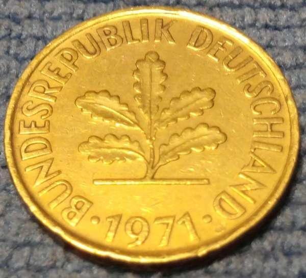 德國KM#108197110 Pfennig (D mintmark)21.5mm