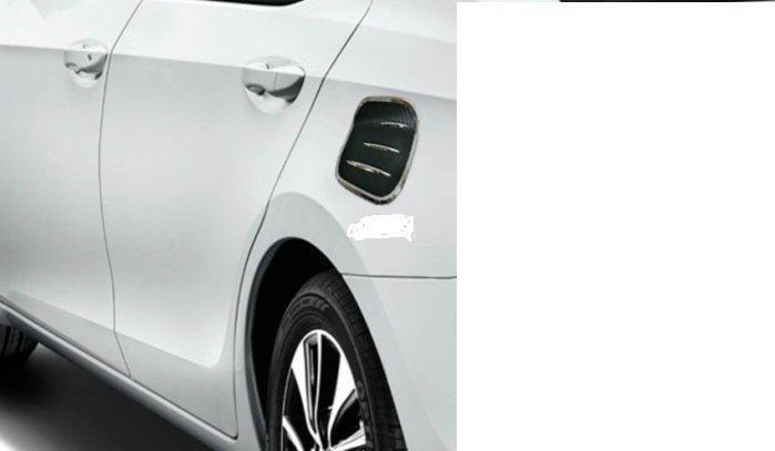 (柚子車舖) 豐田 2017~2018 CHR CARBON 電鍍 雙色 油箱蓋飾板