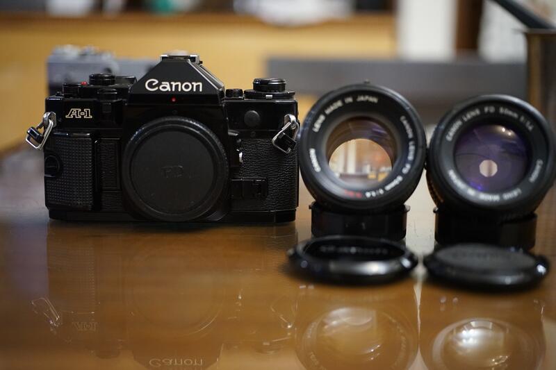 【售】CANON A-1旗艦機加購FD 50mm F1.4, F1.4 SSC鏡頭(AE-1 F1,AV-1, AE-1
