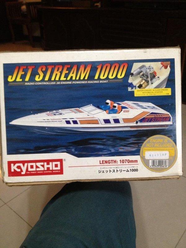 kyosho JET STREAM 1000 遙控 快 艇 加送 改裝 加速管 競速 油船 油車