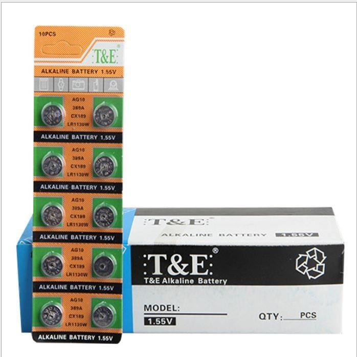 天益牌AG10/389A/LR1130/SR1130/189/L1130W/RW39/V390鈕扣電池1.5V水銀電池