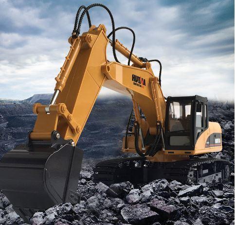 合金版 ~送遙控器電池~ 15通 遙控挖土機 挖斗 可獨立控制 挖土機 遙控車 工程車 ~遙控車