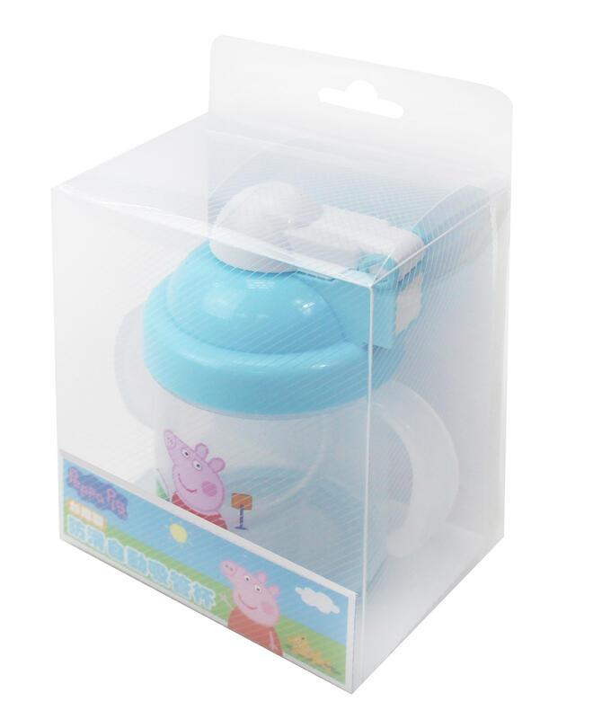 【童話工坊】佩佩豬-防滑自動吸管杯240ml/2色