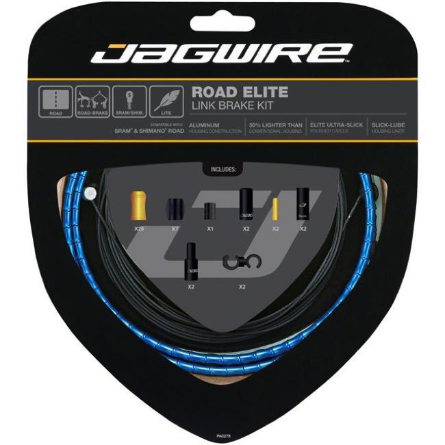 艾祁單車Jagwire Road Elite Link Brake公路車輕量鋁合金節式煞車線管-陽極藍RCK704