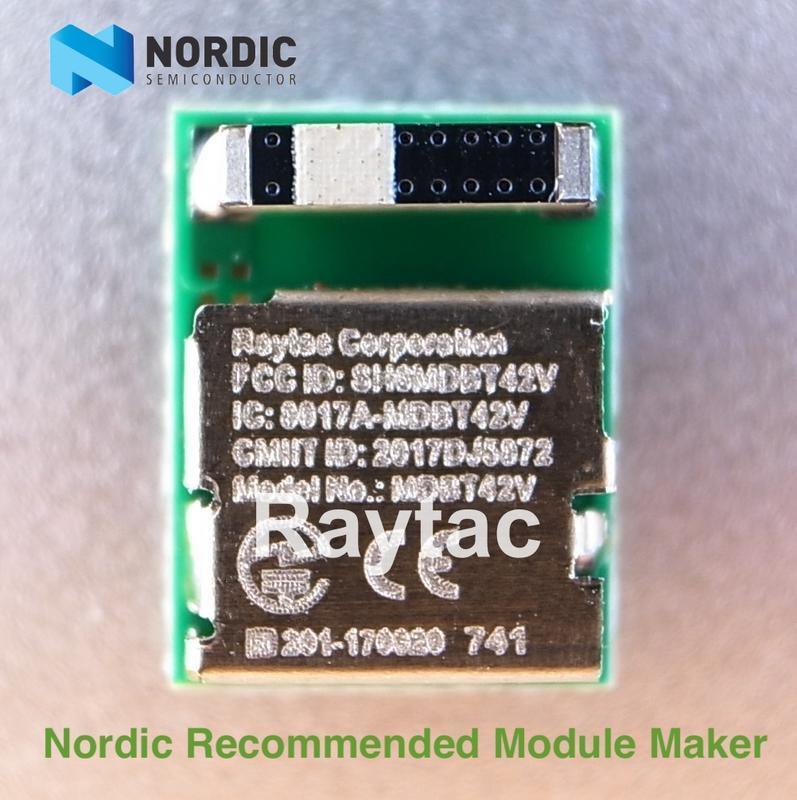 Nordic模組nRF52832BLE Module BT5/4.2 低功耗台製模塊RaytacMDBT42V天線