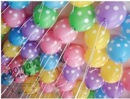 <豆媽派對雜貨>韓國製品NEO LOONS 5顆一組 印點乳膠氣球點點氣球 粉嫩組 週歲佈置 生日派對佈置