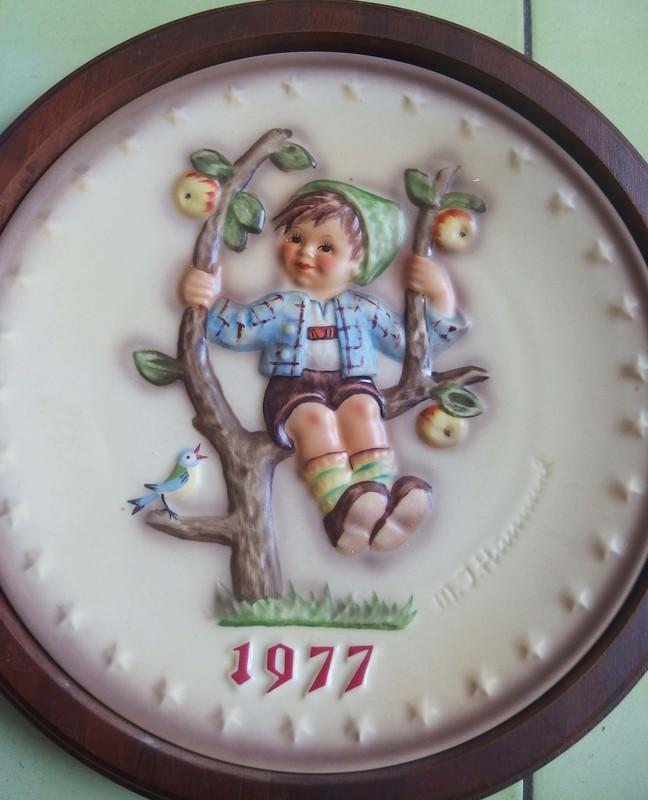 德國喜姆瓷盤1977年出品古董商品(附外盒)!有裱木框!特價出清!