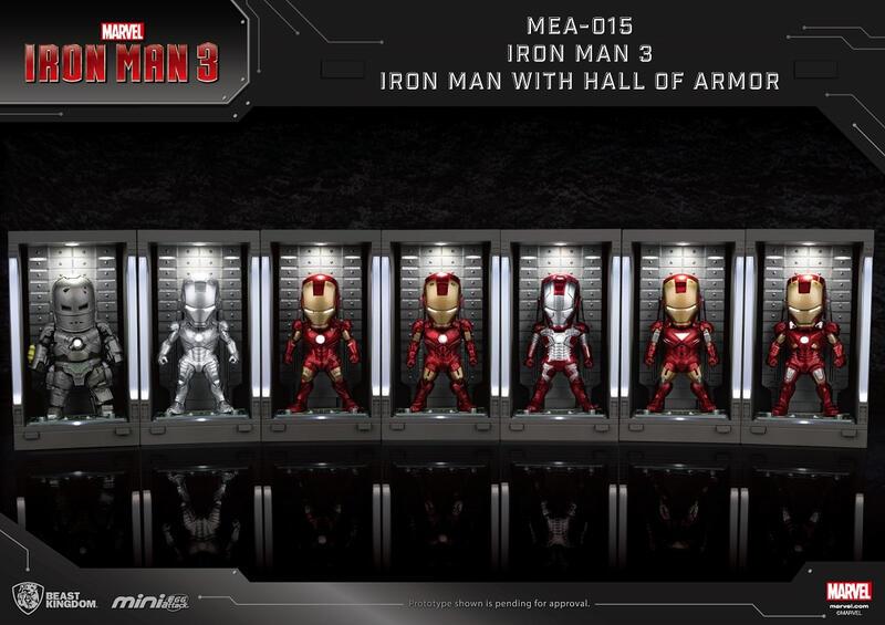 【豐模賞】全新現貨 野獸國 MEA-015 鋼鐵人3 裝甲格納庫 MK1 MK2 MK3 MK4 MK5 MK6 MK7