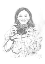 戴資穎 國王藝術 素描 照片繪製 寫實畫 黑白500$ (圖片為展示品-是非賣品!)