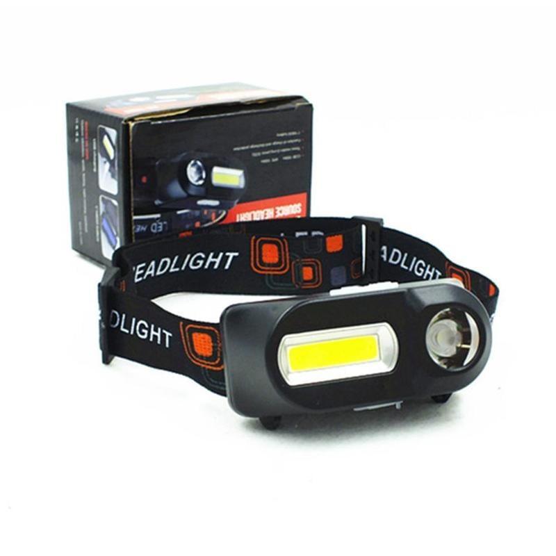 R2+COB感應充電式頭燈 輕便款頭燈 釣魚燈 登山燈 露營燈 水電燈 維修燈 頭燈