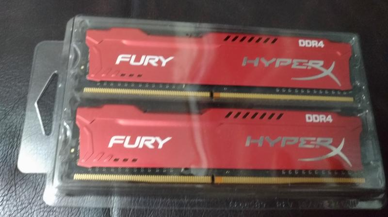 1對2支 8G DDR4  超頻記憶體 紅色 HyperX Fury 8GB 金士頓