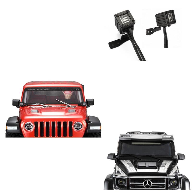 【酷輪坊】DJ 攀岩車改裝射燈(A款,SCX10 III, TRX4, TRX6,各式攀岩車可參考)
