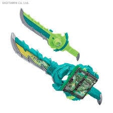 SABER猿飛忍者傳奇幻驅動書神騎書風雙劍翠風日版 假面騎士 Saber 聖刃武器