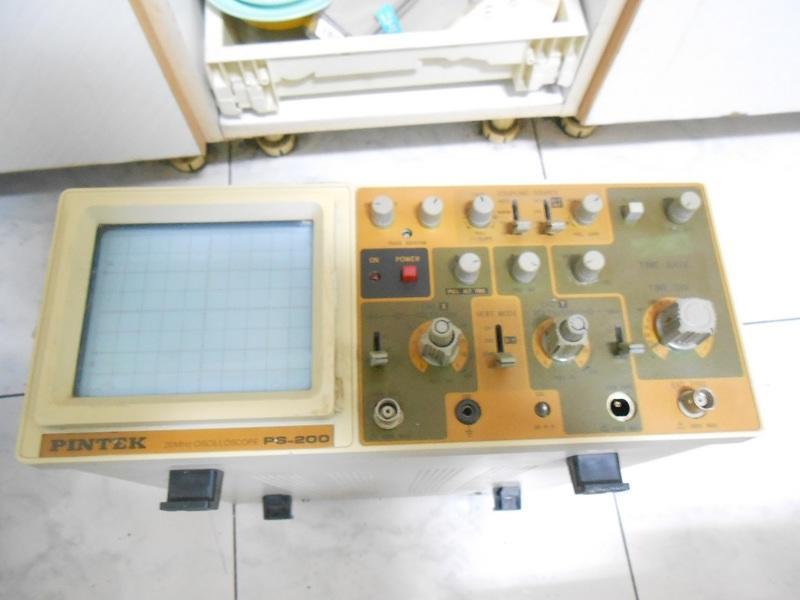 PINTEK 20MHZ 示波器 (PS-200)(過電無測試)【外觀完整】<零件機>