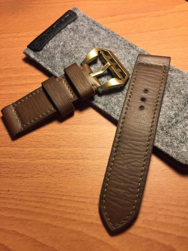 特價更新 PANERAI 沛納海 水牛皮 手工錶帶 特殊 做舊 WOTANCRAFT 沃坦匠藝 26X26 26mm