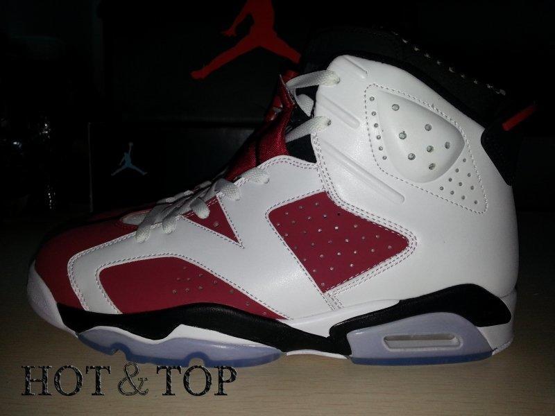 56bbb0f8c3fe 實拍Air Jordan 6 Retro Carmine AJ6 胭脂紅情侶休閒運動鞋384664-160 ...