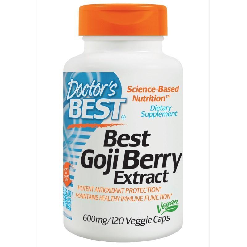 現貨 Doctor's Best Goji Berry 枸杞 4倍萃取 600mg 120粒 素食膠囊