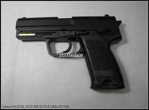 OMC生存遊戲-HFC P8MODEL 空氣槍 (BB槍BB彈玩具槍短槍模型槍道具槍競技槍)黑色/銀色S