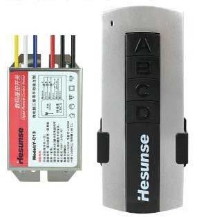 燈具分段3路IC電腦開關三路無線遙控開關
