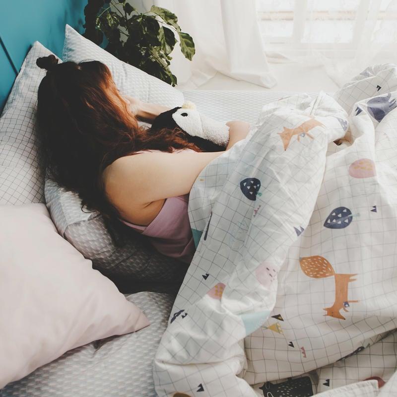MIT精梳純棉-床包薄被套組/雙人加大【白日夢-琉璃藍】絲薇諾